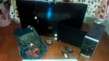 Detuvieron a dos hermanos que reducían electrodomésticos robados