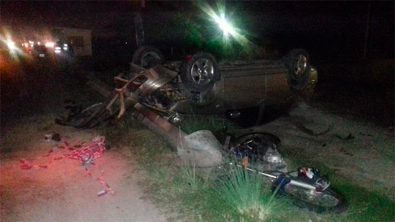 Un joven fue herido de gravedad en múltiple accidente sobre acceso a San Benito