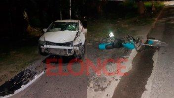 Otro violento choque en Paraná: Motociclista se encuentra muy grave