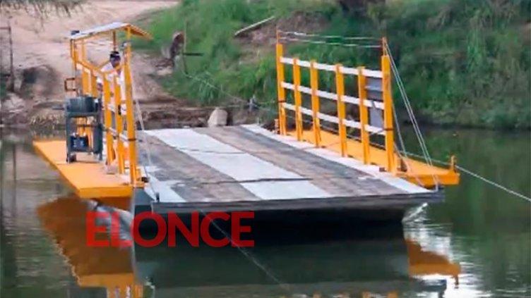 No funciona la balsa de Villa Urquiza: Cuándo reanuda sus viajes en el arroyo