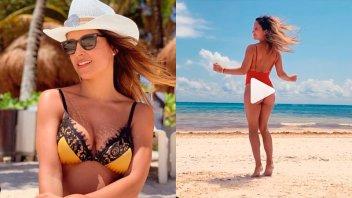 El sensual baile de Lourdes Sánchez en la playa