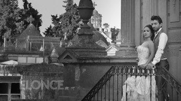 Fotos: Una pareja tuvo su fiesta de bodas al estilo gótico victoriano