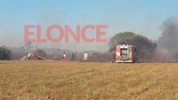 Incendio de gran dimensión afectó varias hectáreas de campo