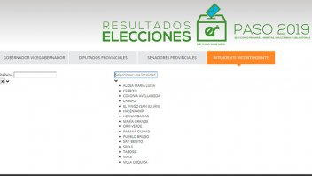 Los resultados de las PASO para intendente en las localidades de Paraná campaña