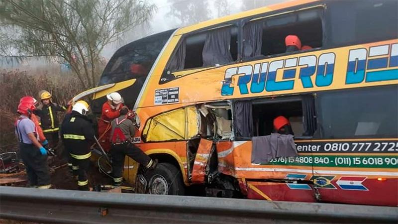 Choque entre ómnibus de larga distancia y camión se cobró la segunda víctima