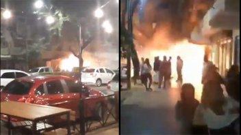 Videos: Impactante explosión seguida de incendio en un edifico de Rosario