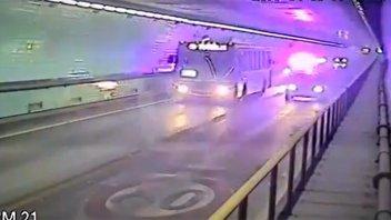 Video: La frenética persecución de ladrones por el túnel desde Santa Fe a Paraná