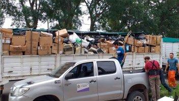 Traslado récord de residuos electrónicos: Llevaron 16 toneladas a Buenos Aires