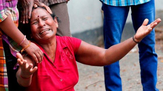 Pascua sangrienta: Dolorosas imágenes tras las explosiones en Sri Lanka