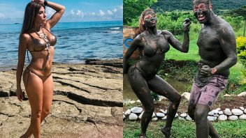 Las desopilantes y sensuales imágenes de Catherine Fulop en Fiji
