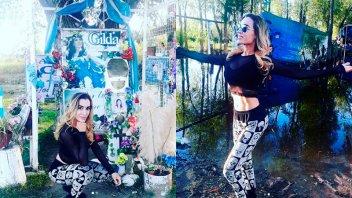 Fátima Florez hizo un especial pedido en el santuario de Gilda