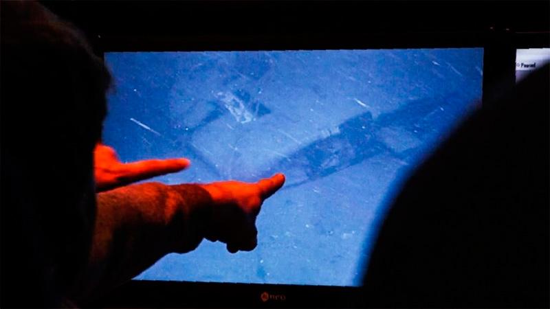 Familiares de los tripulantes vieron todas las imágenes del ARA San Juan hundido