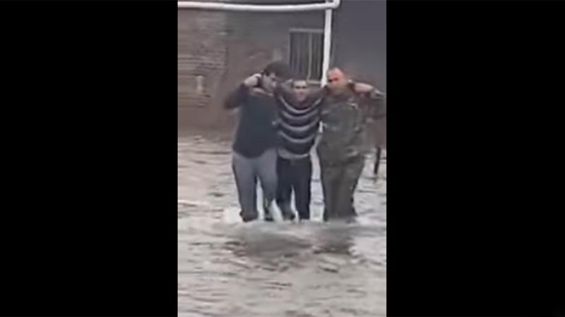 Minutos después del rescate