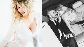 Producción de fotos hot: El topless de Wanda Nara junto Mauro Icardi