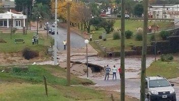 Fotos y video: Consecuencias de la tormenta en Diamante, Crespo y alrededores