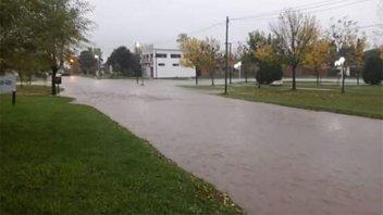 En María Grande, Viale y Hasenkamp también la lluvia generó problemas