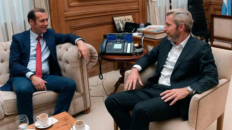 El gobernador de Neuquén con el Ministro