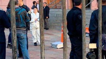 Habló la hermana del detenido en Casa Rosada: