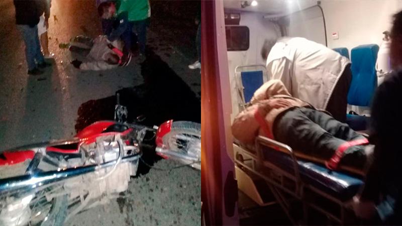 Motociclista chocó con un carro de tracción a sangre que huyó