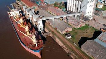 Comenzó un nuevo embarque de arroz en el puerto de Concepción del Uruguay