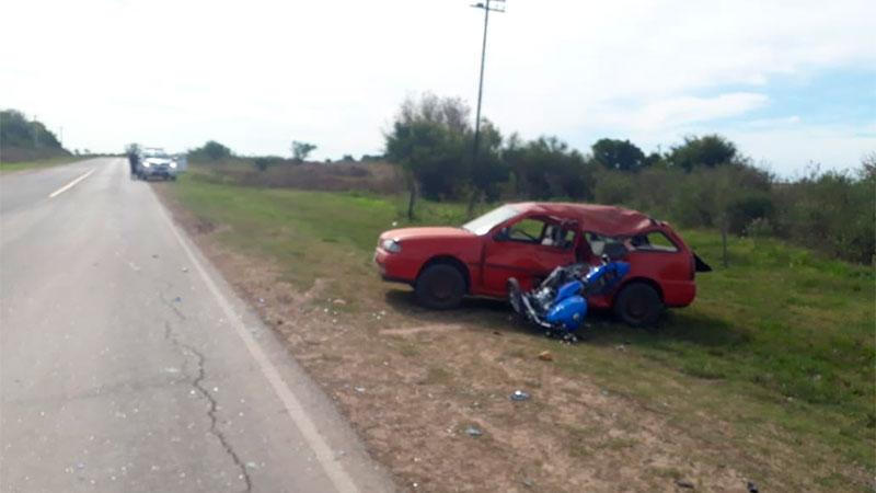 Fatal accidente: Motociclista falleció tras chocar contra un auto cerca de Aranguren