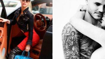 Las nuevas fotos de Wanda Nara: body con transparencias y cabello larguísimo