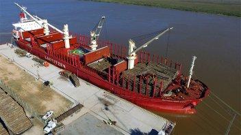 Desde el Puerto de Ibicuy partirá a China un nuevo barco cargado de madera