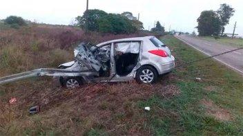 Conductor sufrió graves heridas tras despistar su auto en la Ruta Nº 12