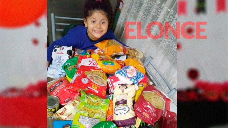La niña que no quería regalos para su cumple recolectó varias cajas de alimentos