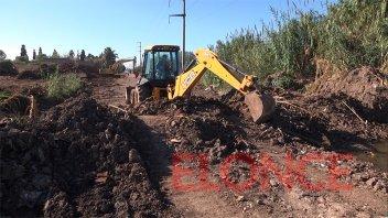 Avanzan obras de pavimentación en la zona de calle Miguel David