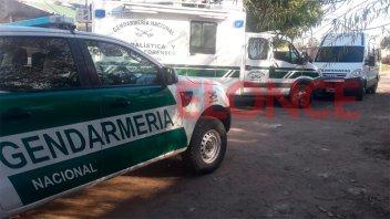 Gran despliegue de Gendarmería en acceso a la Villa 351 en Paraná: Imágenes