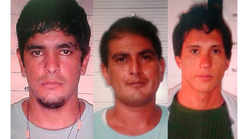 Las víctimas del triple homicidio en Bajada Grande.