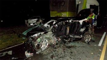 Varios heridos en un violento accidente en el tramo vial Rosario Victoria