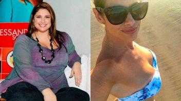 Alessandra Rampolla mostró cómo cambio su figura al bajar más de 50 kilos