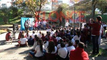 Alumnos de la escuela Nº 196 visitaron el Paseo Jardín Marcelino Román