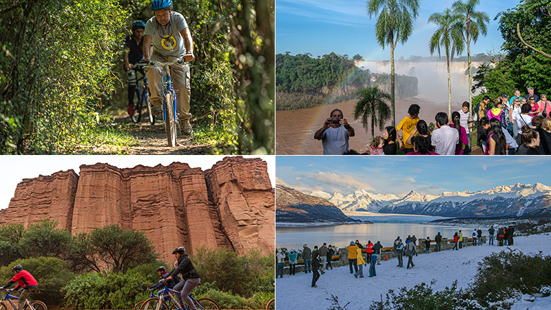 El Palmar, Iguazú, Talampaya y Los Glaciares