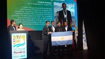 Jóvenes entrerrianos fueron premiados en la Conferencia de las Américas