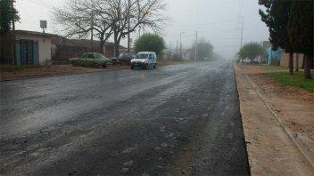 Se inició la pavimentación de calle Miguel David