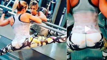 Tras la foto al borde de la censura, publicó sensuales imágenes en el gimnasio
