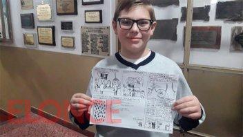 Distinguieron a niño que elaboró una historieta sobre la donación de médula ósea