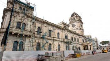 Restauración de la fachada de Casa de Gobierno presenta un 32% de avance