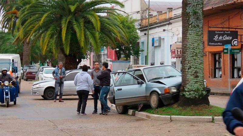 Accidente en una avenida de Gualeguaychú.