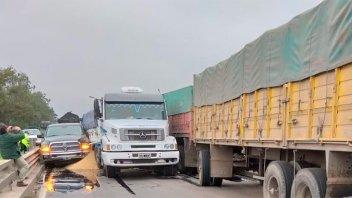 Camionero entrerriano participó de choque en cadena en ruta nacional 34