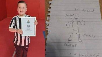 Un niño de 10 años ayudó con un dibujo a esclarecer extraño caso en su colegio