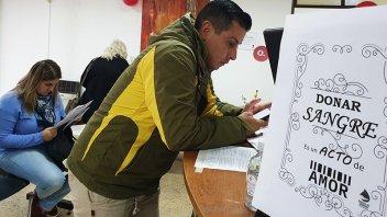 Se realizó este sábado una colecta de sangre en Gualeguaychú