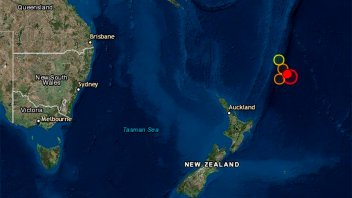 Nueva Zelanda encendió las alertas tras sismo de magnitud 7,4