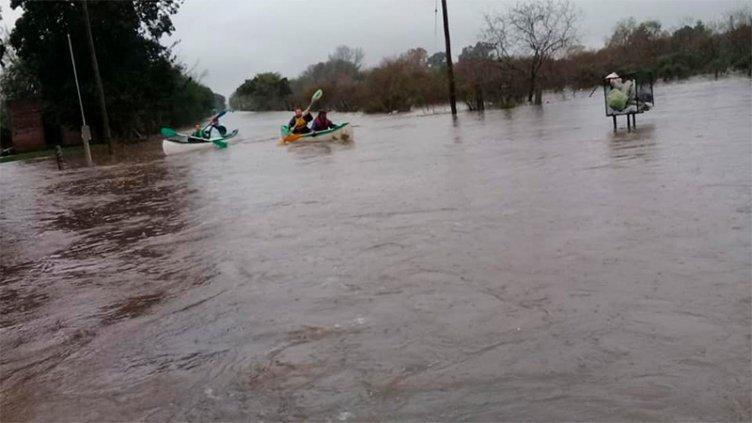 Hubo anegamientos en Rosario del Tala tras las intensas lluvias