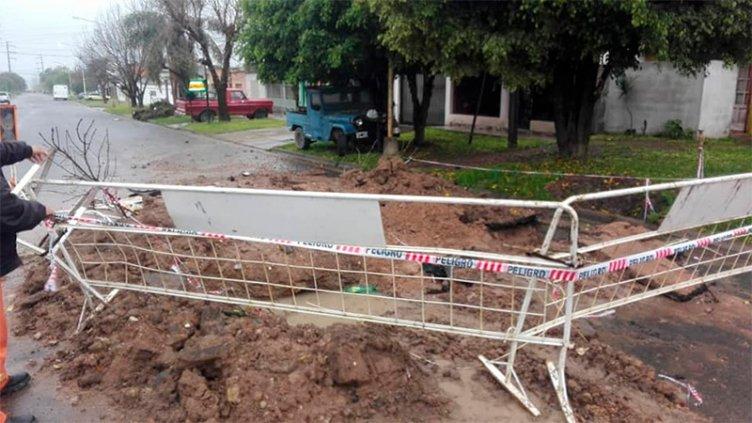 Siete familias demandaron asistencia como consecuencia de las lluvias en Paraná