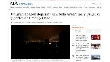 Los diarios del mundo se hicieron eco del apagón que afectó a Argentina