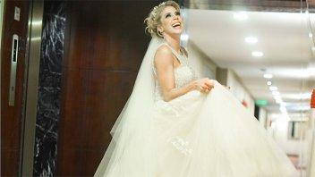 La emoción de Virginia Gallardo en su casamiento: